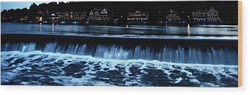Nighttime At Boathouse Row Wood Print by Bill Cannon