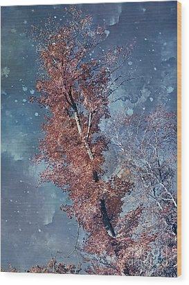 Nighty Tree Wood Print by Aimelle