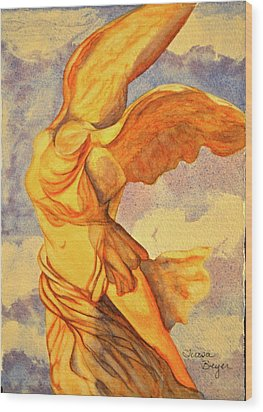 Nike Goddess Of Victory Wood Print by Teresa Beyer