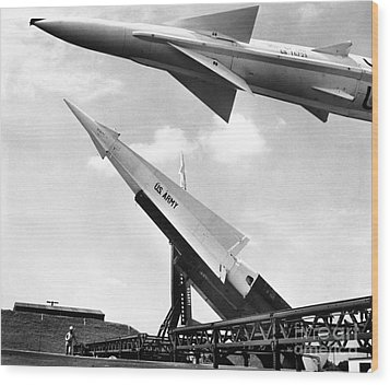 Nike Missile, C1959 Wood Print by Granger