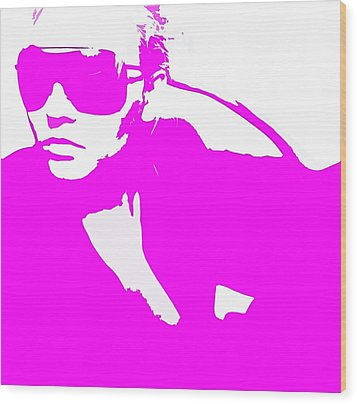 Niki Pink Wood Print by Naxart Studio
