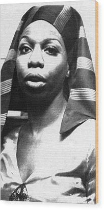 Nina Simone, 1978 Wood Print by Everett