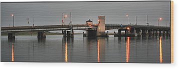 Ninth Street Bridge Ocean City Nj Wood Print by John Loreaux