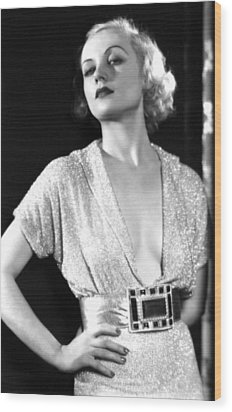 No Man Of Her Own, Carole Lombard, 1932 Wood Print by Everett