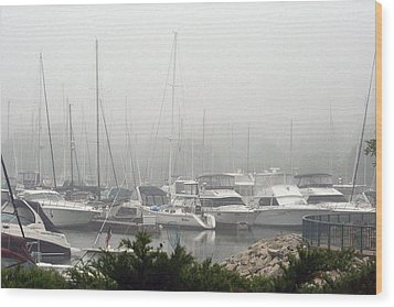 Wood Print featuring the photograph No Sailing Today by Kay Novy