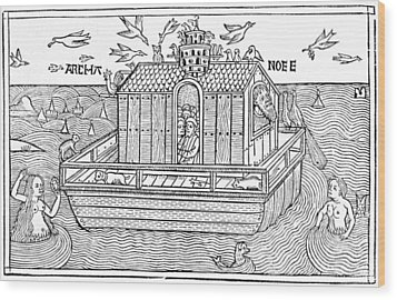 Noah's Ark, 16th-century Bible Wood Print by King's College London