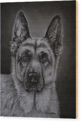 Noble - German Shepherd Dog  Wood Print