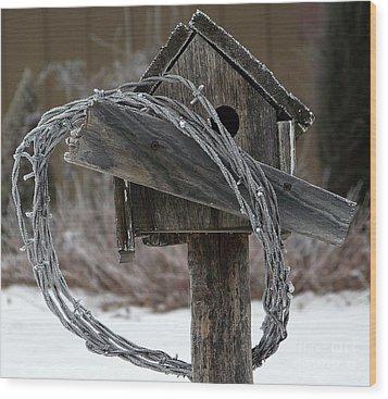 Nobody Home Wood Print