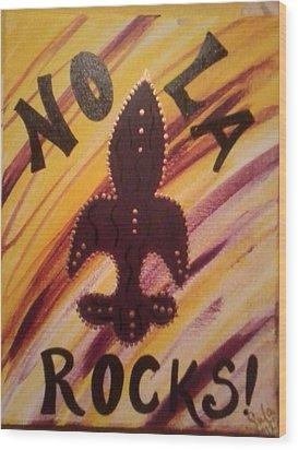 Nola Rocks Wood Print by Sula janet Evans