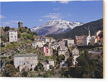 Nonza Village Wood Print by FCremona