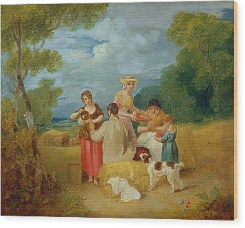 Noon Wood Print by Francis Wheatley