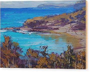 Norah Head Central Coast Nsw Wood Print by Graham Gercken