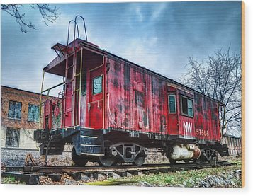 Norfolk Western Caboose Wood Print by Steve Hurt