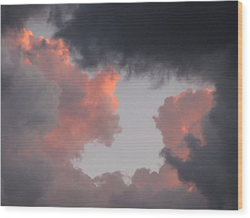 Norma Jeane Mortenson's Clouds Wood Print