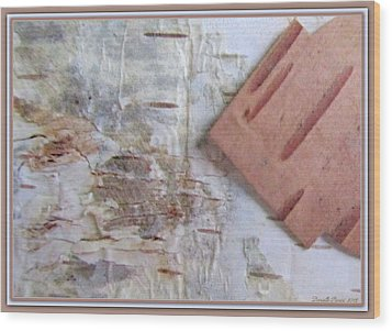 Normand's  Birch Bark  Wood Print by Danielle  Parent