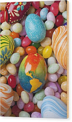North America Easter Egg Wood Print by Garry Gay