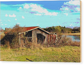 Wood Print featuring the photograph North Carolina Blue And Me by Bob Whitt