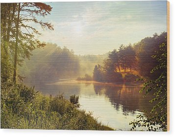 North Carolina Sunset Wood Print by Ray Devlin