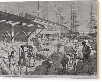 North Commercial Wharf Of Charleston Wood Print by Everett
