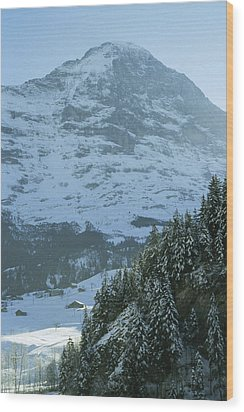 North Face Of The Eiger Towers Wood Print by Gordon Wiltsie