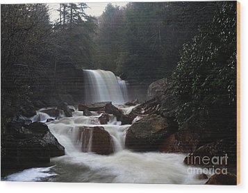 Wood Print featuring the photograph North Forks Waterfalls by Dan Friend