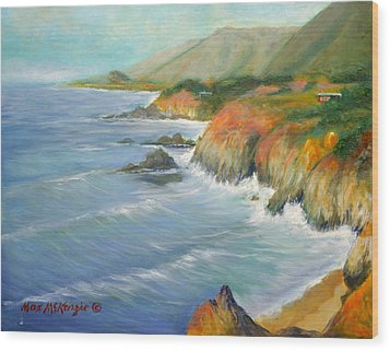 North Of Big Sur Wood Print by Max Mckenzie