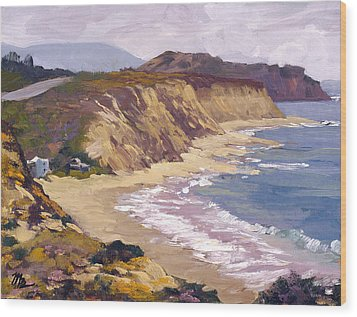 North Of Crystal Cove Wood Print by Mark Lunde