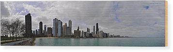 Wood Print featuring the photograph North Of Navy Pier From The Series Chicago Skyline by Verana Stark