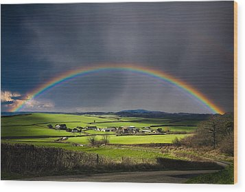 North Poorton Rainbow Wood Print by Kris Dutson