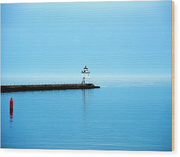 North Shore Lighthouse Wood Print by Bridget Johnson