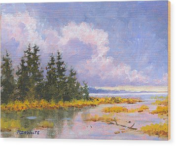 North Shore Wood Print by Richard De Wolfe