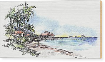 North Sound Beach Wood Print by Andrew Drozdowicz