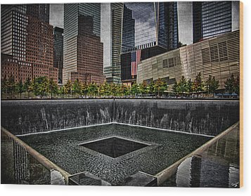 North Tower Memorial Wood Print by Chris Lord