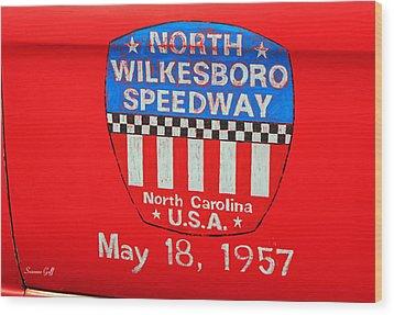 North Wilkesboro Speedway Wood Print by Suzanne Gaff