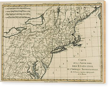 Northeast Coast Of America Wood Print by Guillaume Raynal