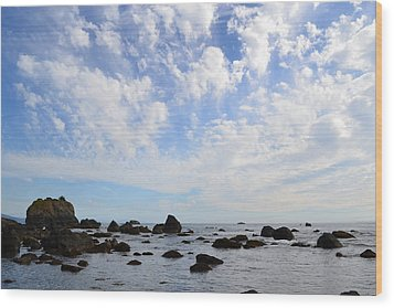 Northern California Coast1 Wood Print by Zawhaus Photography