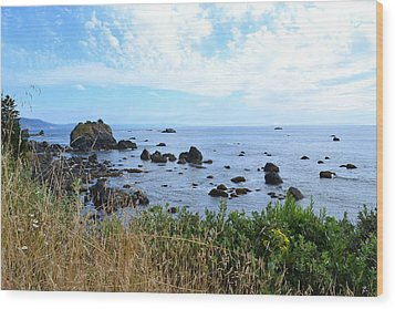 Northern California Coast2 Wood Print by Zawhaus Photography