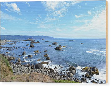 Wood Print featuring the photograph Northern California Coast3 by Zawhaus Photography