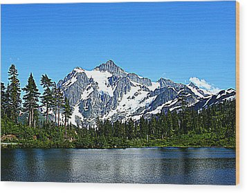 Northern Cascades Wood Print by Lynn Bawden