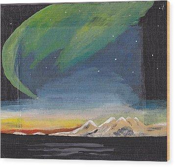 Northern Lights 2 Wood Print by Audrey Pollitt