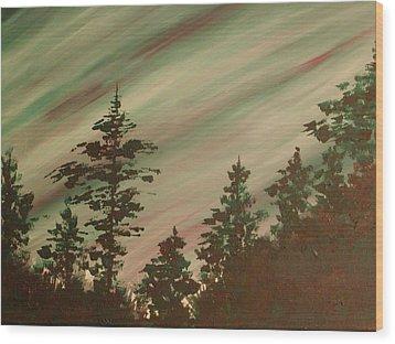 Northern Lights Wood Print by Debbie Beck