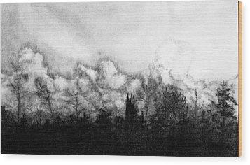 Northern Minnesota Storm Wood Print by Hannah Ostman