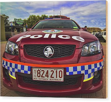 Wood Print featuring the photograph Northern Territory Police Car by Paul Svensen