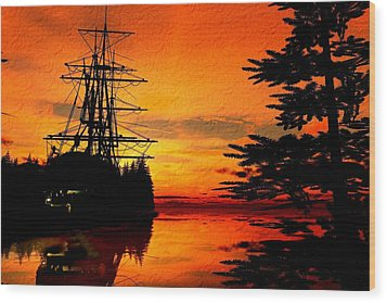 Northwest Anchorage Wood Print by Timothy McPherson