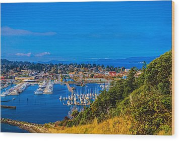 Wood Print featuring the photograph Northwest Harbor by Ken Stanback