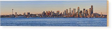 Northwest Jewel - Seattle Skyline Cityscape Wood Print