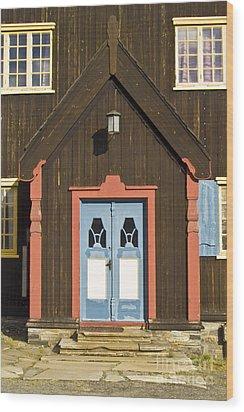 Norwegian Wooden Facade Wood Print by Heiko Koehrer-Wagner