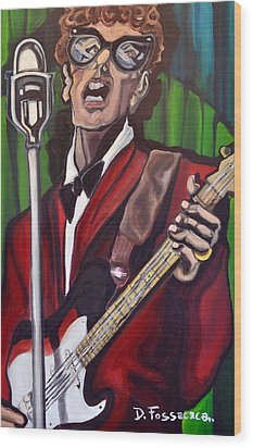 Not Fade Away-buddy Holly Wood Print