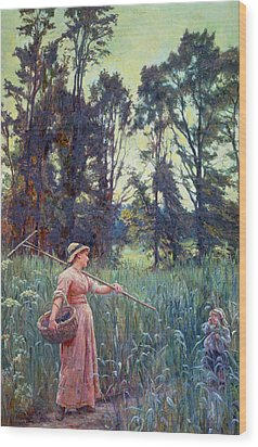Not Far To Go Wood Print by Frederick Morgan