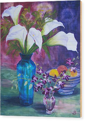 Wood Print featuring the painting Not So Still Life by Joe Bergholm